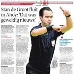Stan de Groot fluit in Ahoy: 'Dat was geweldig nieuws'